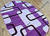 """Рельефный овальный ковер Фрузе """"Прямоугольники"""", цвет лиловый, фото 3"""