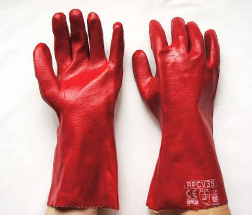 Перчатки маслобензостойкие 35см, фото 2