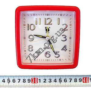Настольные часы для дома квадратные средние +подсветка и цифры хамелион (AA161) Оптом.