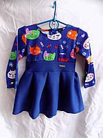 Платье детское комби 86-104