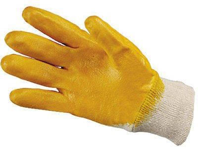 Перчатки малярные нитрильные желтые, фото 2