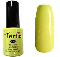 Гель-лак Tertio 102 Светлый желтый эмалевый плотный., 10 мл.