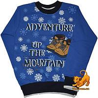 """Детский теплый гольф """"Adventure In The Mountains"""", трикотажный , с начесом , для мальчика (рост 92-128 см)"""