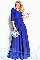 Вечернее лаконичное платье. Цвет синий электрик.