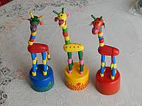 Детские танцующие игрушки деревянные жирафы