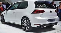 Диффузор юбка заднего бампера Volkswagen VW Golf 7 стиль GTI