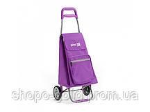 Сумка хозяйственная на колесиках Argo, фиолетовая, 37x33x95,6 см