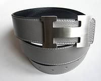 Брендовый ремень 'Hermes' серый