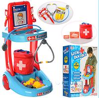 Игровой набор Доктор медицинская тележка Metr+ 63008