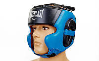 Шлем боксерский в мексиканском стиле открытый Elast Leather ( кожа ) XL синий