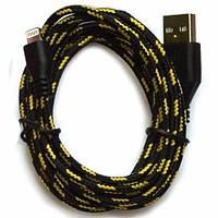 Тканевый кабель USB шнур 3 метра Iphone 5 5s 5c 6 6s Plus  S198