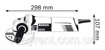Угловая шлифмашина BOSCH GWS 1400 Professional  аренда прокат, фото 3