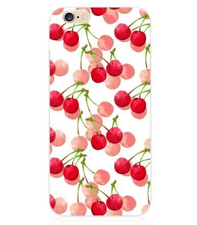 Оригинальный чехол панель накладка для Iphone 4 / 4S с картинкой Вишня