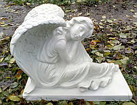 Ритуальная скульптура Ангел скорбящий из полимера h=41 см