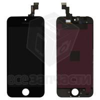 Дисплейный модуль для iPhone 5S, iPhone SE, черный, high-copy