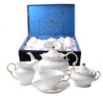 Сервиз чайный 15пр. Снежная королева (белый с золотом)