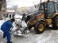 Очистка снега в Киеве.