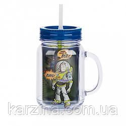 Двухстенная чашка с соломинкой 235 мл История Игрушек, Disney