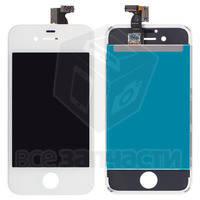 Дисплейный модуль для iPhone 4S, белый, high-copy