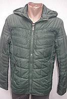 Мужская демисезонная куртка с капюшоном зеленая