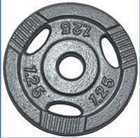 Диск для штанги металл, порошковая окраска. Вес 1,25 кг Новинка!!!
