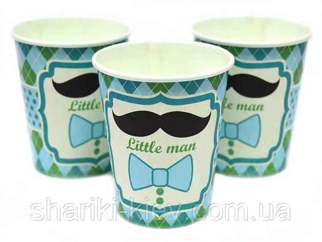Стаканчики Little MAN 10 шт. бумажные на День рождения, фото 2