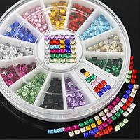 [ Стразы Nail Art 3D ] Разноцветные стразы-глиттеры для дизайна ногтей