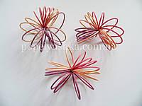 Спіраль ротангова рожево-фіолетова 8 см