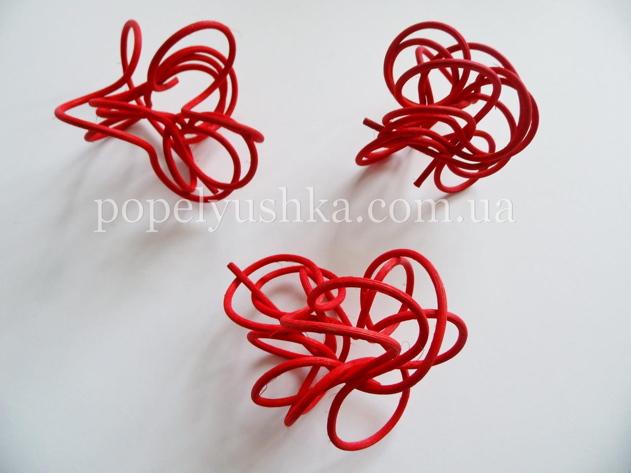 Спіраль ротангова червона 10-12 см