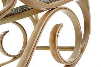 Кресло качалка натуральное дерево ткань цветы, фото 2