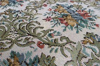 Кресло качалка натуральное дерево ткань цветы, фото 3