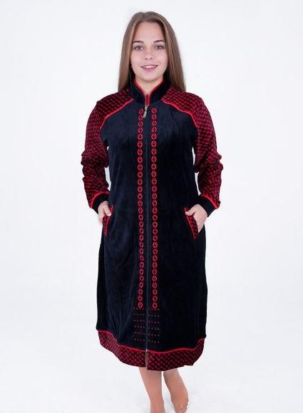 Женский велюровый халат Узор-04