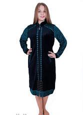 Женский велюровый халат Узор-04, фото 3