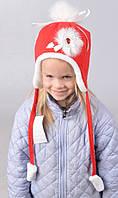Красивая зимняя  шапка для  девочки 4125
