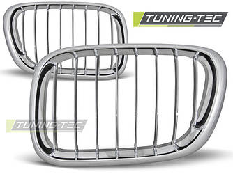 Решетка радиатора ноздри тюнинг BMW X5 E53 хром