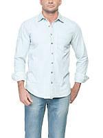 Мужская рубашка LC Waikiki под джинс светло-голубого цвета