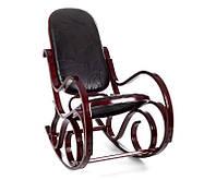 Кресло качалка красное дерево, кожа куски