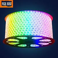 Светодиодная лента 5050 RGB разноцветная 50 метров (силиконовое покрытие)
