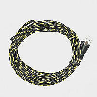 Тканевый кабель шнур Micro USB - USB 3 метра S200