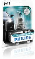 Лампа галогенная Philips H1 X-treme VISION +130%, 3700K, 1шт/блистер, 12258XV+B1