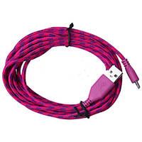 Тканевый кабель шнур Micro USB - USB 2 метра, №199