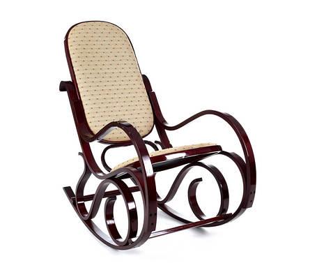 Кресло качалка ткань точки, красное дерево, фото 2