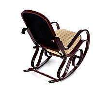Кресло качалка ткань точки, красное дерево, фото 3
