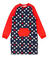 Платье для девочки 16-10 Д\Р Синее Звёзды