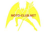 "Наклейка на мототехнику   декор   ""DIABLO""   (16х16см, желтая)   (#1330)"