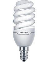 Лампа энергосберегающая Philips E14 12W 220-240V WW 1PF/6 Tornado T2 mini, 929689174503