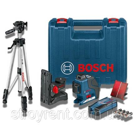 Лазерный нивелир Bosch GLL 3-80 комплект- аренда, прокат, фото 2