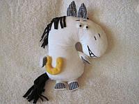 Мягкая игрушка - подушка конь Жан ручная работа