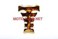 "Наклейка на мототехнику   на бак   ""YAKUZA""   (силикон, карбон желтый)   (#5019)"