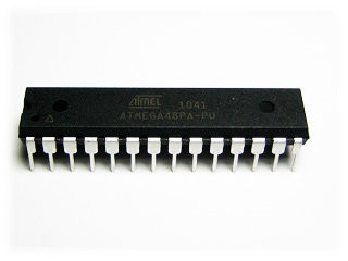 ATMEGA48PA-PU Микроконтроллер AVR 4K-Flash/512-RAM/256-EEPROM DIP28
